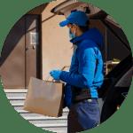 Fantastic technician delivering bag of goods