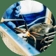 Hands welding appliance